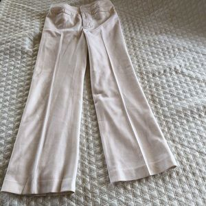 Banana Republic white wool pants